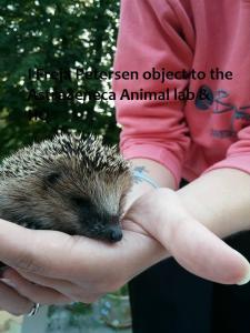 Freja Petersen and animal