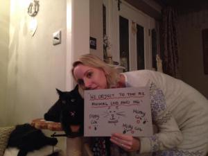 Karen Bartram and cat friend 2