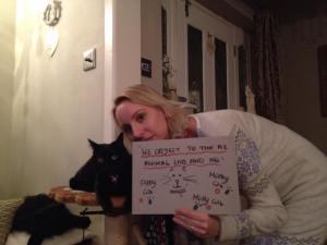 Karen Bartram and cat friend 2