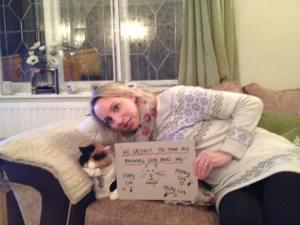 Karen Bartram and cat friend 3